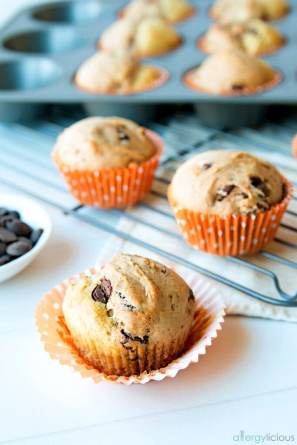 Chocolate Banana Split Muffin unwrapped