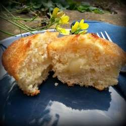 Vegan Lemon Cupcakes with Lemon Curd