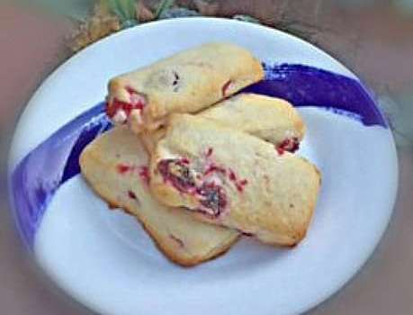 Dairy Free Cranberry Shortbread