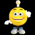 light bulb emoticon
