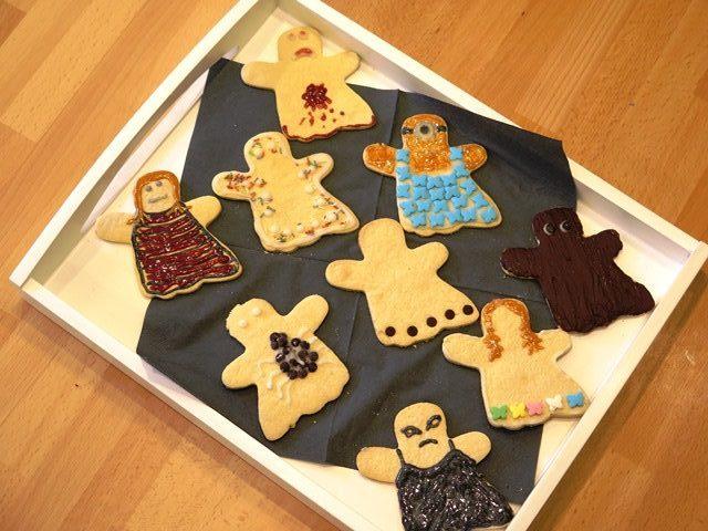 bunte Gespenster Kekse