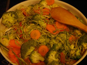 Gemüse kurz anbraten