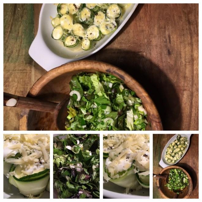 Hackröllchen Rezept mit grünem Salat