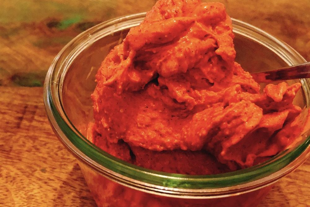 Himbeer-Vanille-Eis Low Carb und zuckerfrei