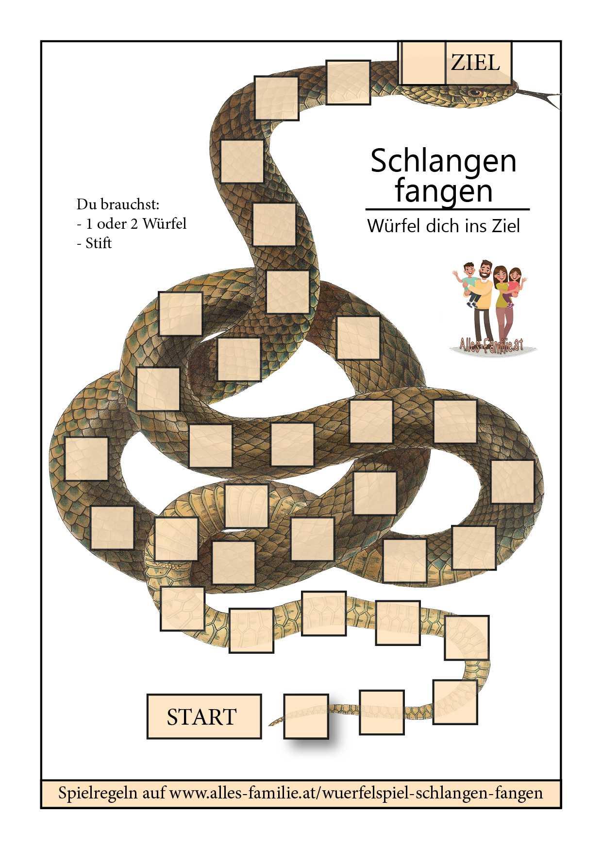 Würfelspiel für Kinder | Schlangen fangen