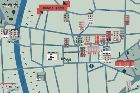 Karte von Bozen