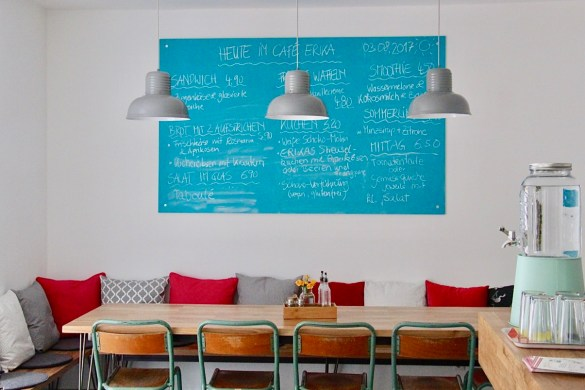 Blick ins Café Erika in München