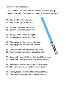18 Similar Sentences