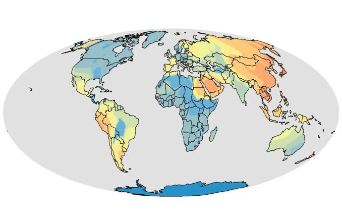 esl teacher locations heatmap