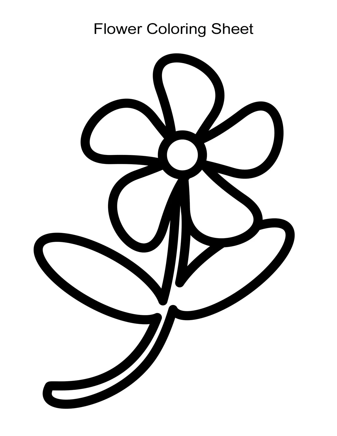 10 Flower Coloring Sheets For Girls And Boys Free