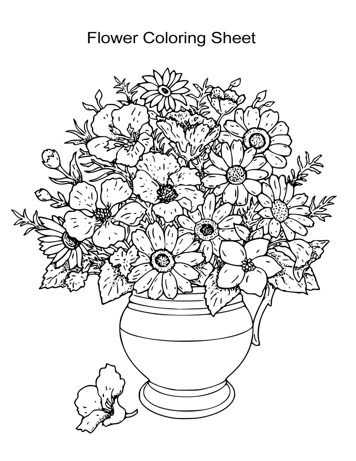 10 Flower Coloring Sheets for Girls and Boys - ALL ESL   coloring sheets for flowers