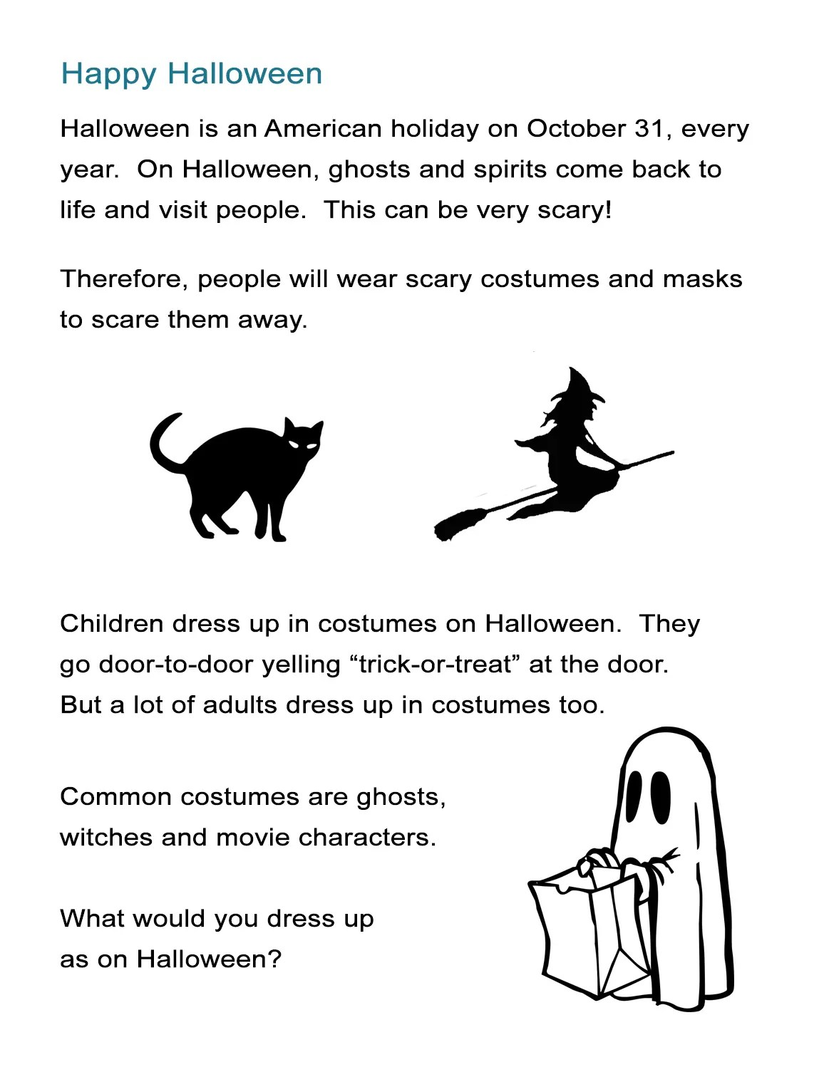 Halloween Intro How To Describe Halloween To Kids