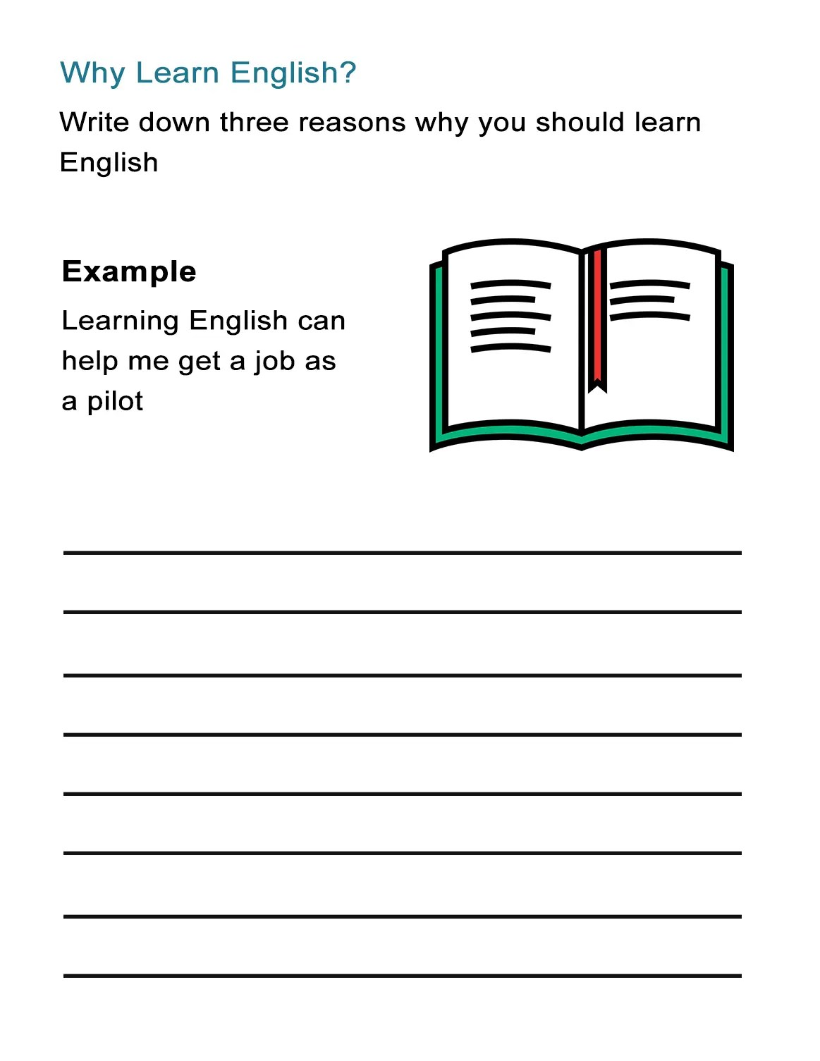 Why Learn English Worksheet On The Benefits Of Learning