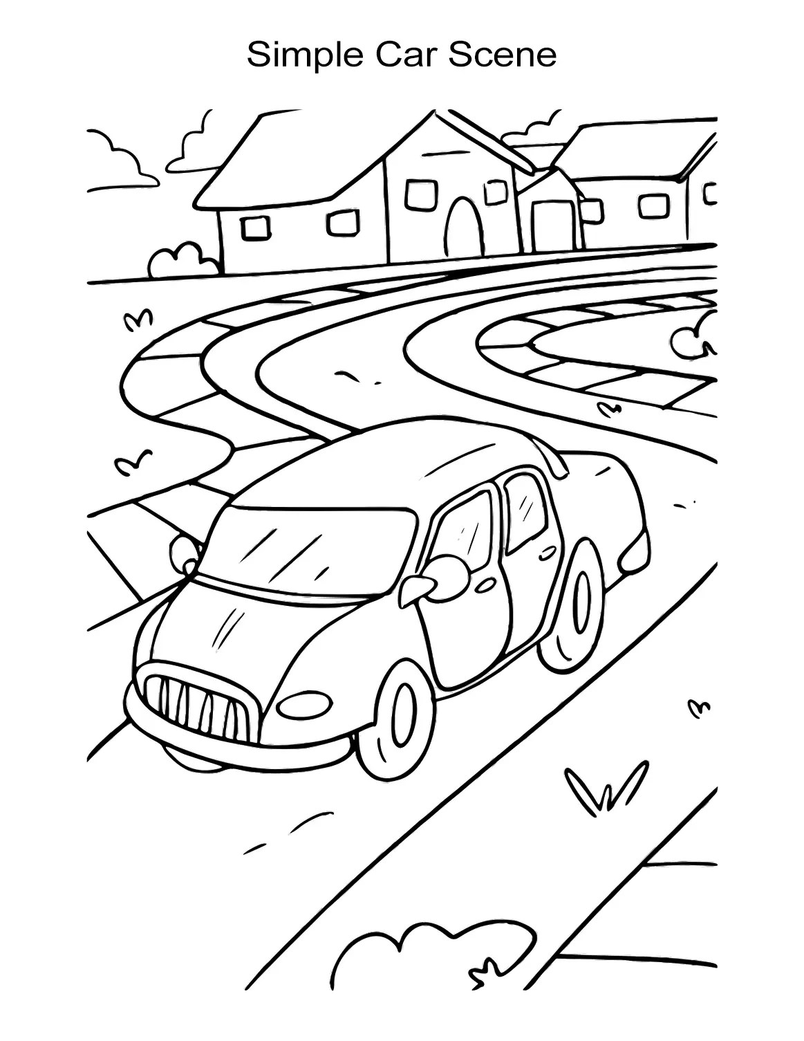 10 Car Coloring Sheets Sports Muscle Racing Cars And