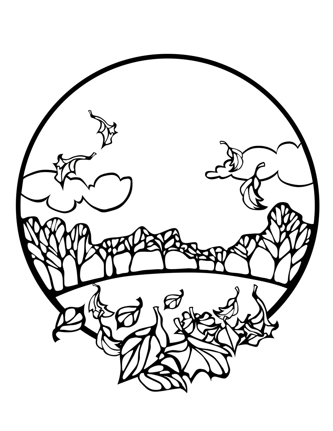 5 Free Fall Coloring Sheets Autumn Season Coloring Pages