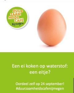 Duurzaamheidscafé 'Waterstof tot nadenken' @ LUX Nijmegen