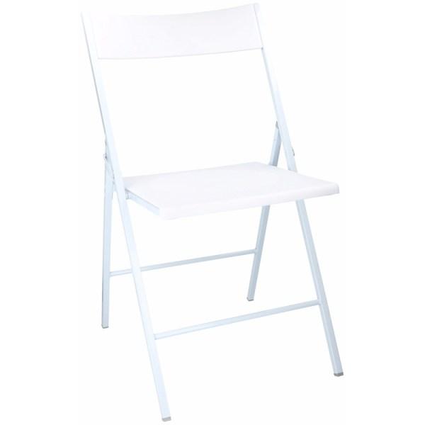 Witte klapstoel 78 cm