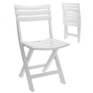 Witte klapstoel