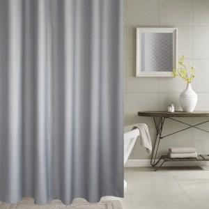 Verdikking waterdicht en schimmel gordijn honingraat textuur polyester doek douchegordijn badkamer gordijnen, grootte: 120 * 180cm (grijs)