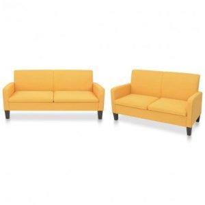 2-delig Bankstel stof geel