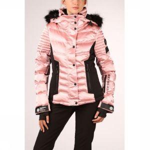 Superdry Jas Luxe Snow Puffer voor dames - Roze - Maten: XS, M, XL