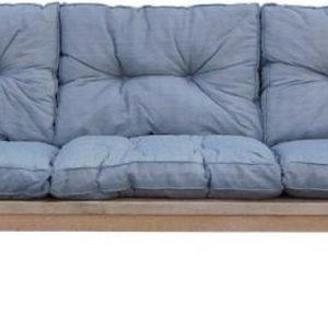 Goedkope loungebank met grijze kussens