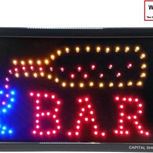 Led licht bord ledbord BAR (Met Animatie - Glas wordt gevuld)