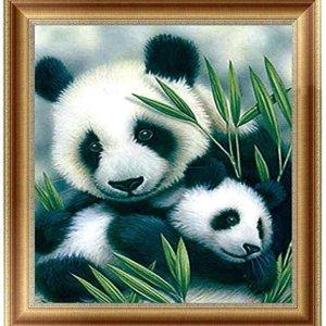 Panda's - Diamond Painting 30x30 cm inclusief premium tools