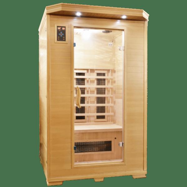 Badstuber Carmen 2 infrarood sauna 120x120cm 2 persoons