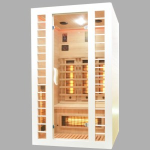 Badstuber Fresh infrarood sauna 120x105cm 2 persoons wit