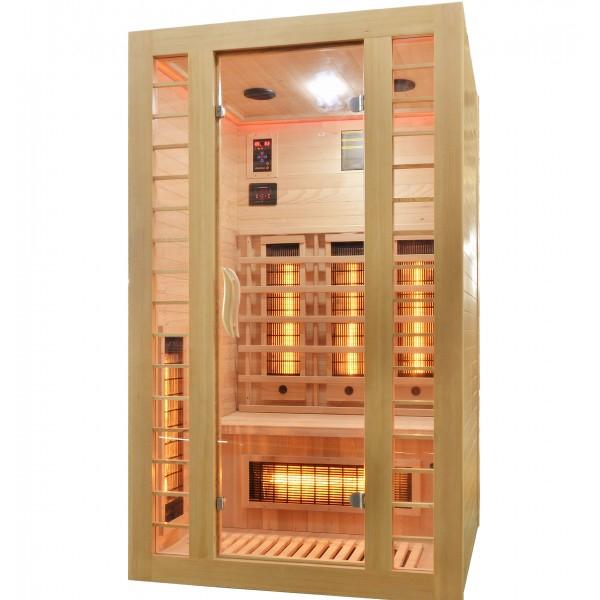 Badstuber Fresh infrarood sauna 120x105cm 2 persoons