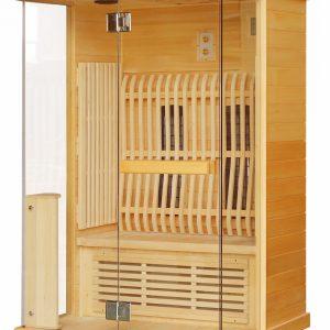 Badstuber Luna infrarood sauna 120x100cm 2 persoons