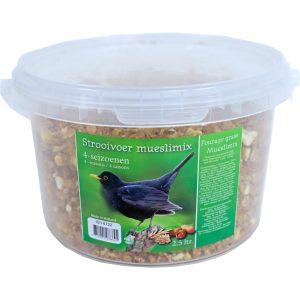Emmer 4 seizoenen vogelvoer mueslimix 2,5 liter