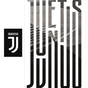 Juventus muursticker Juventus 2 stickervellen zwart/wit