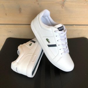 Lacoste Europa 0120 1 SMA Heren Sneakers - White/Dark Green - Maat 48