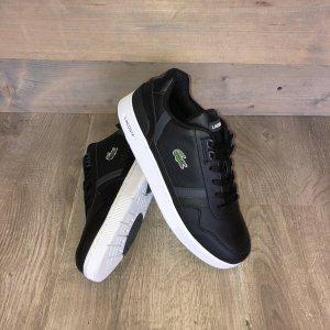 Lacoste - T-Clip Heren Sneakers - Black/Dark Grey - Maat: 40.5
