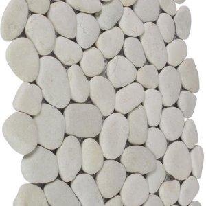 Pebblestone tegel wit 30 x 30 cm, dikte 15-20 mm