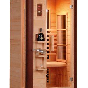 Badstuber Diamant 1 infrarood sauna 100x90cm 1 persoon