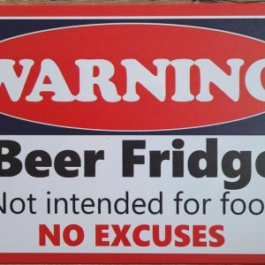 Bier Fridge No Excuses bier koelkast Reclamebord van metaal METALEN-WANDBORD - MUURPLAAT - VINTAGE - RETRO - HORECA- BORD-WANDDECORATIE -TEKSTBORD - DECORATIEBORD - RECLAMEPLAAT - WANDPLAAT - NOSTALGIE -CAFE- BAR -MANCAVE- KROEG- MAN CAVE
