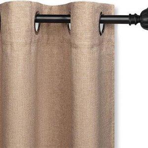LIFA LIVING - gordijnen met ringen - taupe - 150x260cm