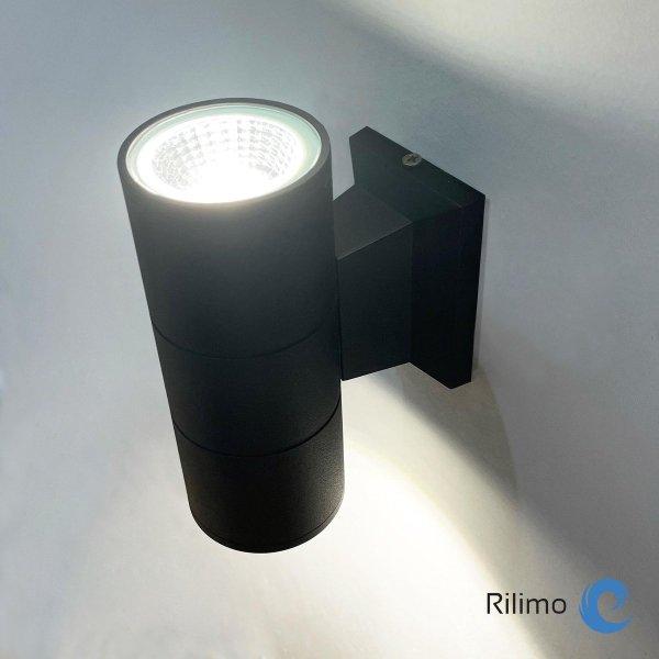 Rilimo® - Buitenlamp - Led Lamp - Wandlamp - Up Down Verlichting Rond - Buitenverlichting - Waterdichte Ledverlichting - Muurlamp - Badkamer Verlichting - Wandspot