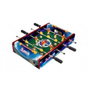 Tafelvoetbal spel blauw 35 x 10 cm speelgoed