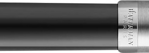 Waterman vulpen Embleme Black Chrome Trim met medium punt