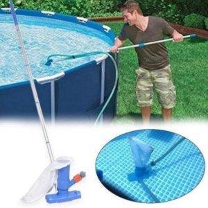 Zwembad Stofzuiger Inclusief Steel voor Zwembad Onderhoud - Zwembadstofzuiger - Bodemzuiger Zwembad Reiniging set- Ecomtrends®