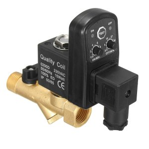 1/2 inch automatische elektronische afvoerklep elektromagnetische getimede lucht gecomprimeerde elektrostim-magneetklep