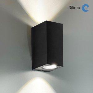 Rilimo® - Wandlamp Rechthoekig - Wandlamp Binnen - Wandlamp Buiten - Buitenlamp - Led Lamp - Muurlamp - Down Up Verlichting - Wandlamp Badkamer - Wandlamp Binnen Industrieel - Wandspot