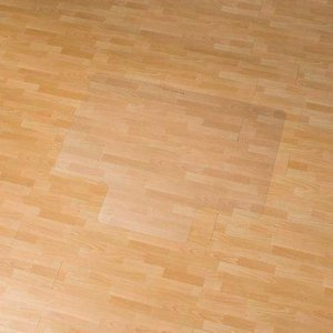 Stoelmat Vloermat voor harde vloeren Rechthoek met lip 150x120cm.