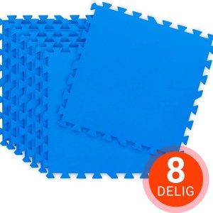 Nibor® Zwembad tegels Ondervloer zwembad Grondzeil zwembad - Zwembad ondergrond - Puzzelmat - Speelmat - Yoga mat - Ondertapijt zwembad - Fitness mat anti slip - Set van 8 stuks