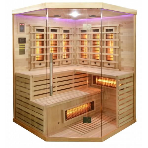 Badstuber Deluxe infrarood sauna 150x150cm 3-4 persoons