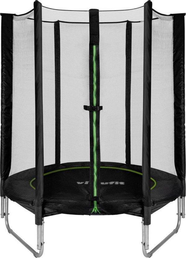 Kinder Trampoline - VirtuFit Kinder Trampoline met Veiligheidsnet - Zwart - 140 cm